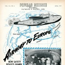 "Image of ""Airway to Europe,"" Popular Science Monthly, June 1939,1 of 5 pages"