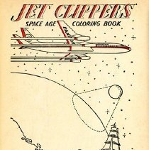 Image of Jet Clippers: The Space Age Coloring Book, title page