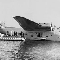 Image of Pan American Clipper Boeing 314, NC18603, ca. 1939