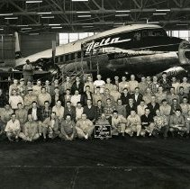 Image of Delta Aircraft Maintenance Hangar 2 Group Photo - 12/1957