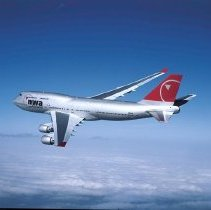 Image of Boeing 747-400 Ship 6301 in new Northwest Airlines livery, 2003