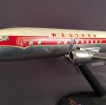 Image of Western Airlines DC-6B, N91302, Model Airplane - 1957-1958