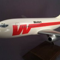 Image of Western Airlines Boeing 737-200 Model Airplane - 1983-1985