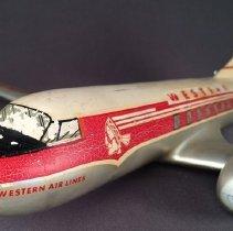 Image of Western Airlines Convair 240 Model Airplane - 1957-1959