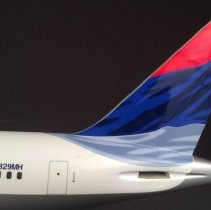 Image of Delta Boeing 767-400, N829MH Ship 1805, Model Airplane