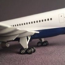 Image of Delta Boeing 757-2Q8ER, N702TW Ship 6801, Model Airplane