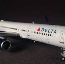 Image of Delta Boeing 757-2Q8ER, N702TW, Ship 6801 Model Airplane - ca. 2007-2016