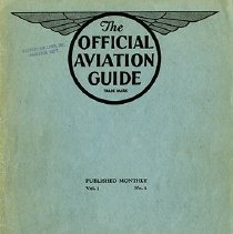 Image of The Official Aviation Guide, vol 1, no 1, ca. Jan-Feb, 1929, cover