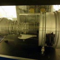 Image of General Electric CF6-80 turbofan engine model