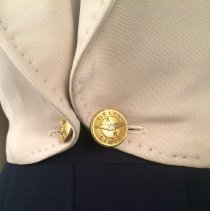 Image of Delta Stewardess Uniform Jacket Buttons, 1948-1953 Summer