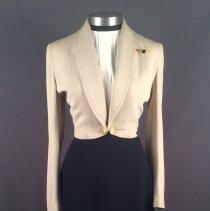 Image of Delta Stewardess Uniform Skirt, 1948-56, shown here 1948-53 Summer