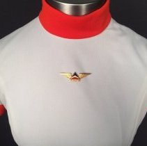 Image of Delta Stewardess Uniform Tunic and  Wings, 1970-1973