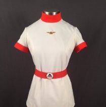 Image of Delta Stewardess Uniform (orange version), 1970-1973