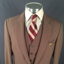 Image of Delta Male Flight Attendant Uniform Jacket 1979-83 (Medium Brown Version)