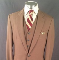 Image of Delta Male Flight Attendant Uniform 1979-83 (Medium Brown Version)