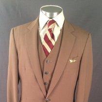 Image of Delta Male Flight Attendant Uniform 1979-83 (Medium Brown Version)