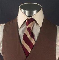 Image of Delta Male Flight Attendant Uniform Vest 1979-83 (Medium Brown Version)