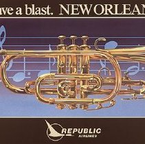Image of Republic Airlines Poster Have a Blast. New Orleans