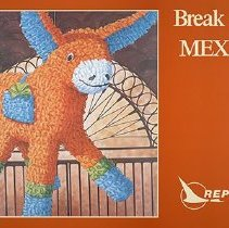 Image of Republic Airlines Poster Break Away. Mexico