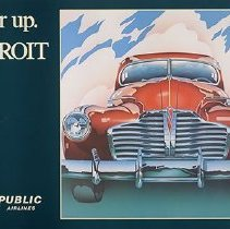 Image of Republic Airlines Poster Gear Up. Detroit
