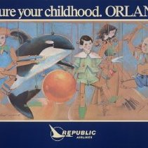 Image of Republic Airlines Poster. Capture your Childhood. Orlando.