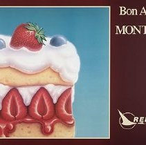 Image of Republic Airlines Poster Bon Appetite. Montreal