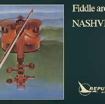 Image of Republic Airlines Fiddle Around. Nashville Poster