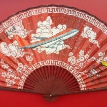 Image of Northwest Airlines 50 Years to Asia Fan, 1999