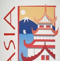 Image of Northwest Airlines/KLM Asia Travel Poster - 1993