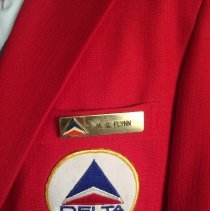 Image of Delta Agent Uniform Name Badge - ca. 1968-1980s