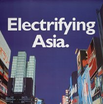 Image of Northwest/KLM Poster Electrifying Asia, 1998