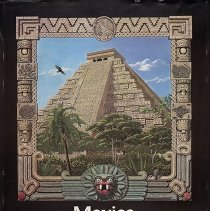 Image of Delta Mexico Travel Poster - 1987-1991