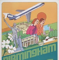 Image of Southern Airways Birmingham Travel Poster - ca. 1977