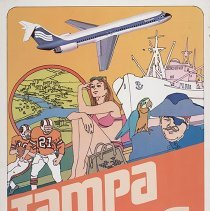 Image of Southern Airways Tampa Travel Poster - ca. 1977