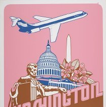 Image of Southern Airways Washington, D.C. Travel Poster - ca. 1977