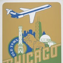 Image of Southern Airways Chicago Travel Poster - ca. 1977