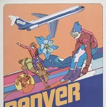 Image of Southern Airways Denver Travel Poster - ca. 1977