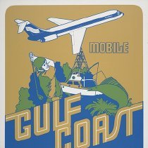 Image of Southern Airways Gulf Coast Travel Poster - ca. 1977