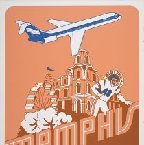 Image of Southern Airways Memphis Travel Poster - ca. 1977