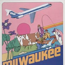 Image of Southern Airways Milwaukee Travel Poster - ca. 1977