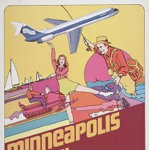 Image of Southern Airways Minneapolis/St. Paul Travel Poster - ca. 1977