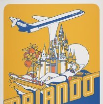 Image of Southern Airways Orlando Travel Poster - ca. 1977