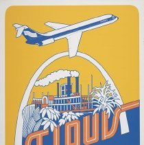 Image of Southern Airways St. Louis Travel Poster - ca. 1977