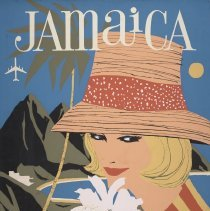 Image of Delta Jamaica Travel Poster - 1961