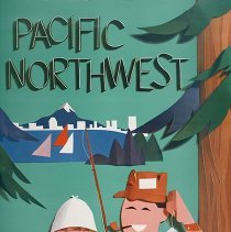 Image of Western Airlines Pacific Northwest Travel Poster - 1959