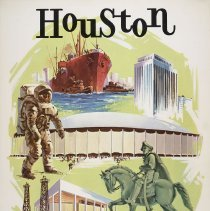 Image of Delta Houston Travel Poster - 1971