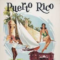Image of Delta Puerto Rico Travel Poster - 1971