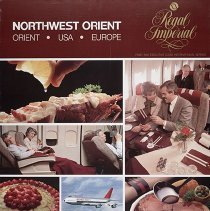 Image of Northwest Orient Royal Imperial Poster - 1980s