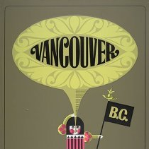 Image of Western Airlines Vancouver Travel Poster - 1967
