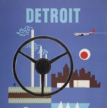 Image of Northwest Orient Detroit Travel Poster